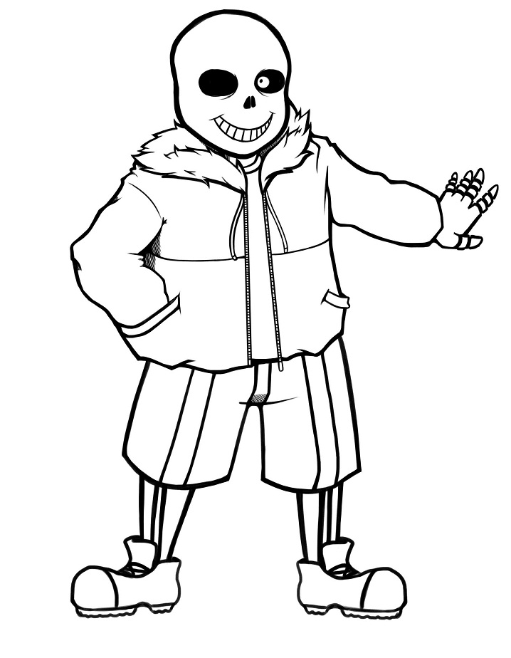 Undertale Sans Coloring Pages : undertale, coloring, pages, Coloring, Printable, Pages
