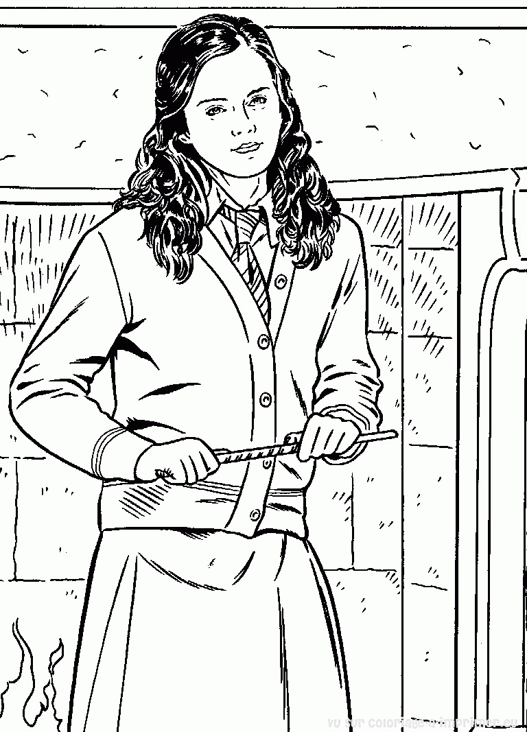 Hermione Granger Coloring Pages : hermione, granger, coloring, pages, Hermione, Granger, Coloring, Printable, Pages