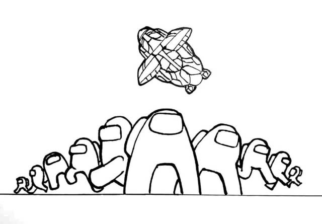 Among Us Game Coloring Page - Free Printable Coloring Pages for Kids
