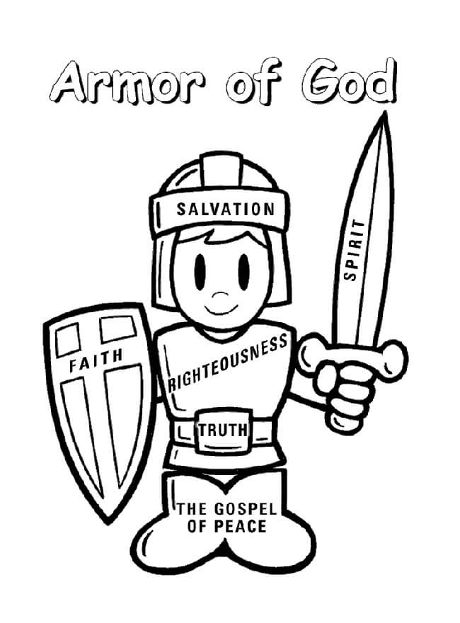 Armor Of God Coloring Sheet : armor, coloring, sheet, Armor, Coloring, Printable, Pages