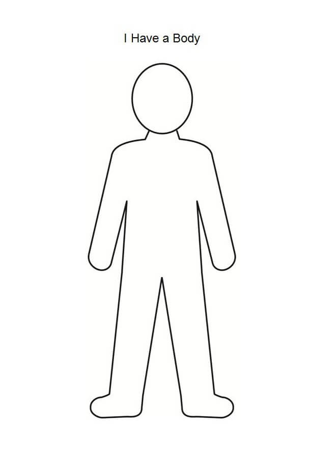 Person Coloring Page : person, coloring, Person, Outline, Coloring, Printable, Pages