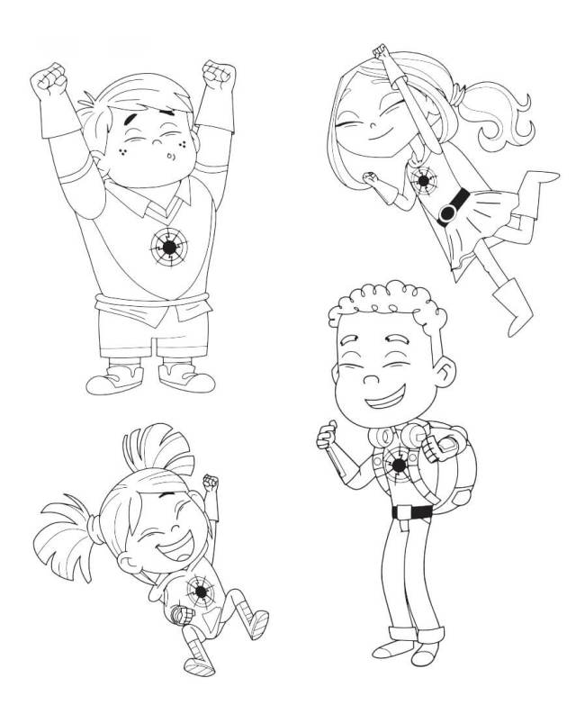 Hero Elementary Coloring Page - Free Printable Coloring Pages for Kids