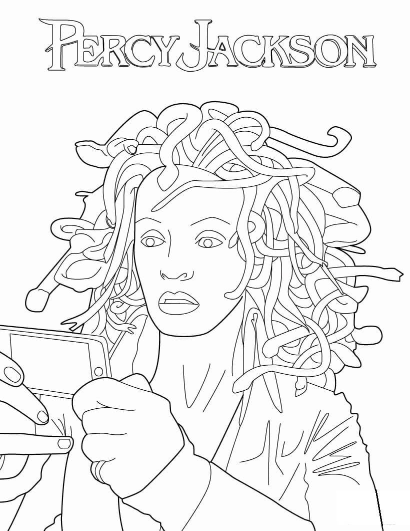 Percy Jackson Coloring Pages : percy, jackson, coloring, pages, Medusa, Percy, Jackson, Coloring, Printable, Pages