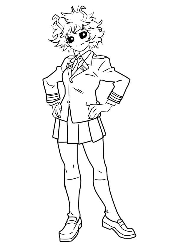 Mha Coloring Pages : coloring, pages, Ashido, Academia, Coloring, Printable, Pages