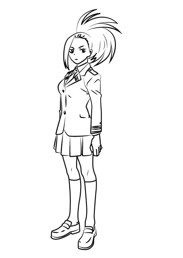 Mha Coloring Pages : coloring, pages, Yaoyorozu, Academia, Coloring, Printable, Pages