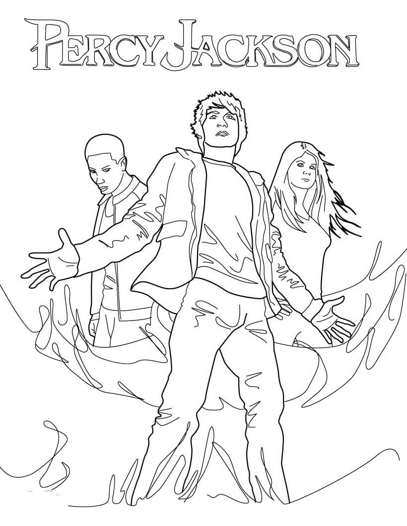 Percy Jackson Coloring Pages : percy, jackson, coloring, pages, Percy, Jackson, Coloring, Printable, Pages