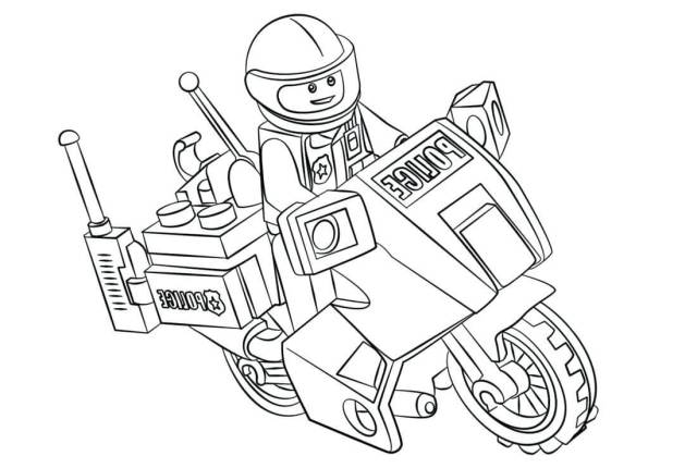 Police Lego City Coloring Page - Free Printable Coloring Pages for