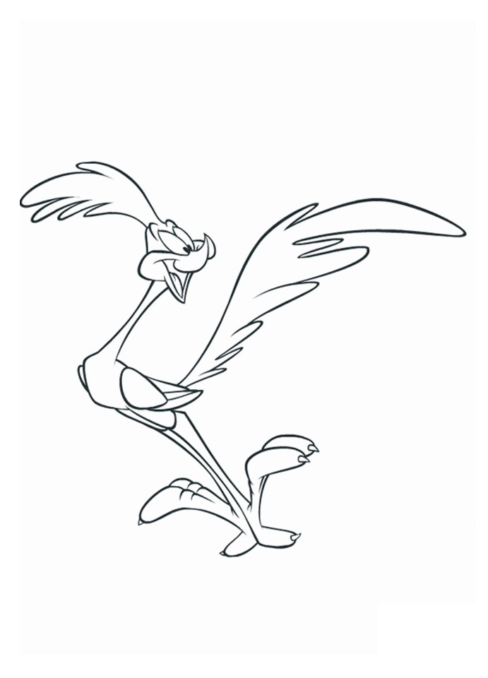 Road Runner Coloring Pages : runner, coloring, pages, Runner, Coloring, Printable, Pages