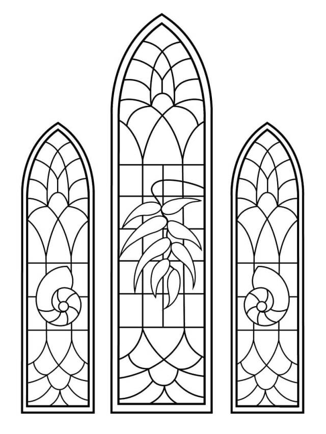 Stained Glass Window 28 Coloring Page - Free Printable Coloring