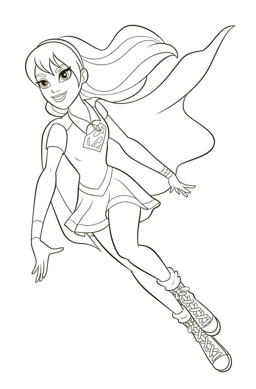 Supergirl Coloring Pages : supergirl, coloring, pages, Supergirl, Coloring, Pages, Printable