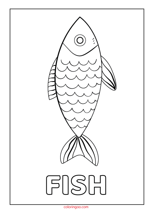 Fish Coloring Pages Pdf : coloring, pages, Printable, Coloring, (PDF)
