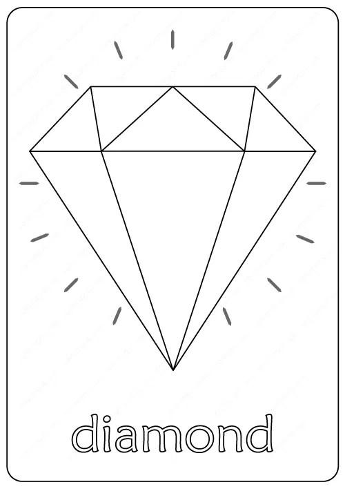 Diamond Coloring Pages : diamond, coloring, pages, Printable, Diamond, Coloring, Pages