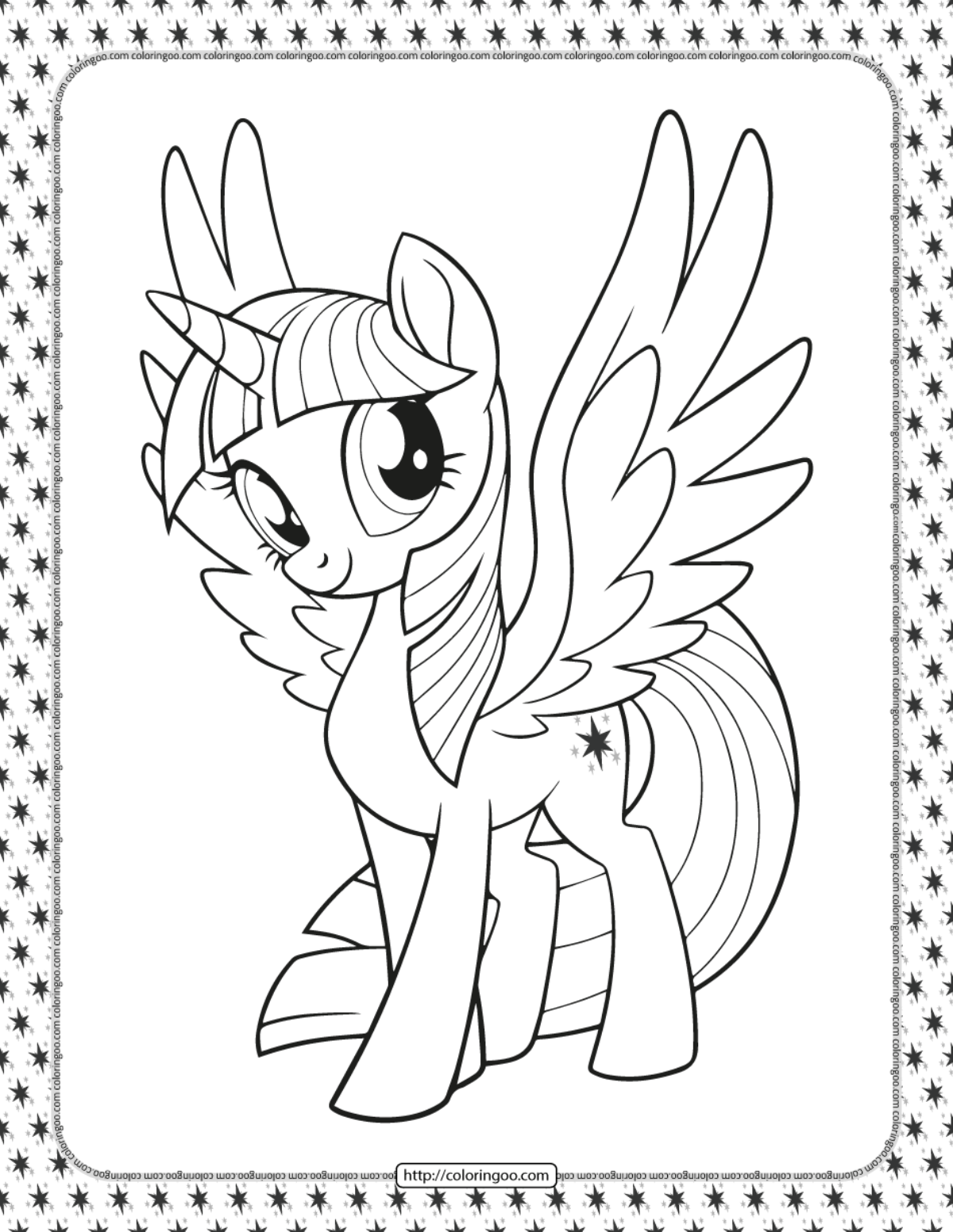 Printable Pony Coloring Pages : printable, coloring, pages, Printable, Little, Twilight, Sparkle, Coloring, Pages