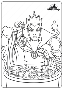 Printable Disney Sea Witch Ursula Coloring Pages
