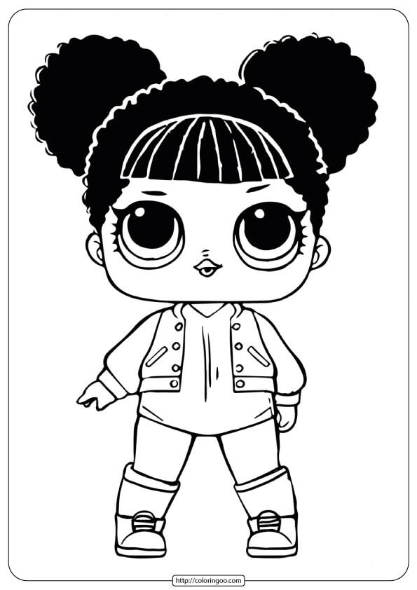 Free LOL Surprise Dolls Hoops Coloring Pages