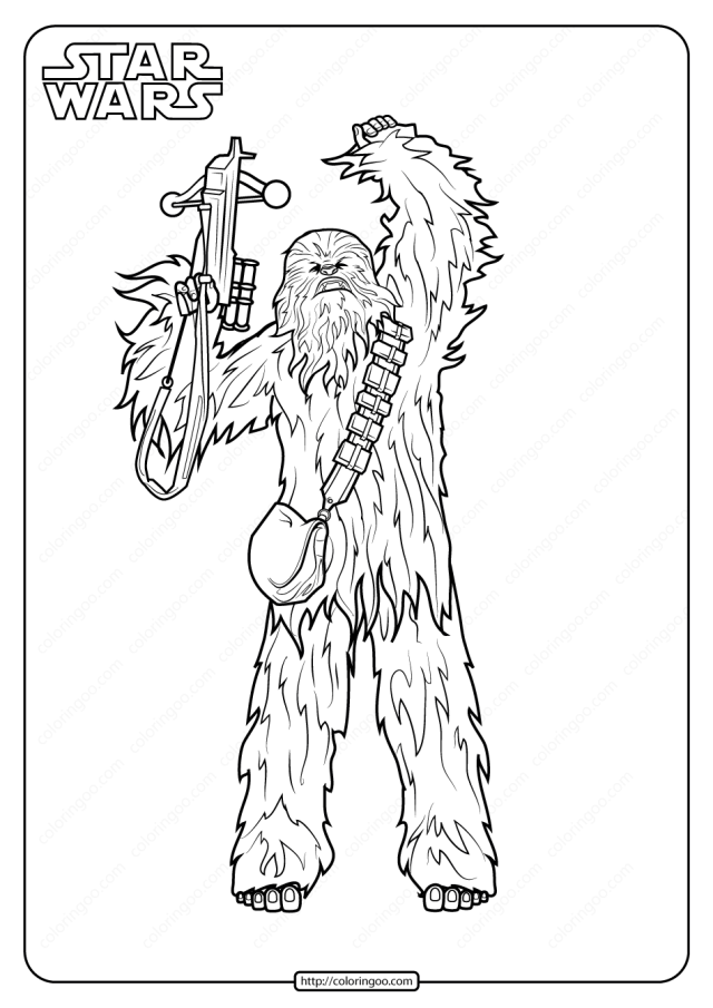 Printable Star Wars Chewbacca Coloring Pages
