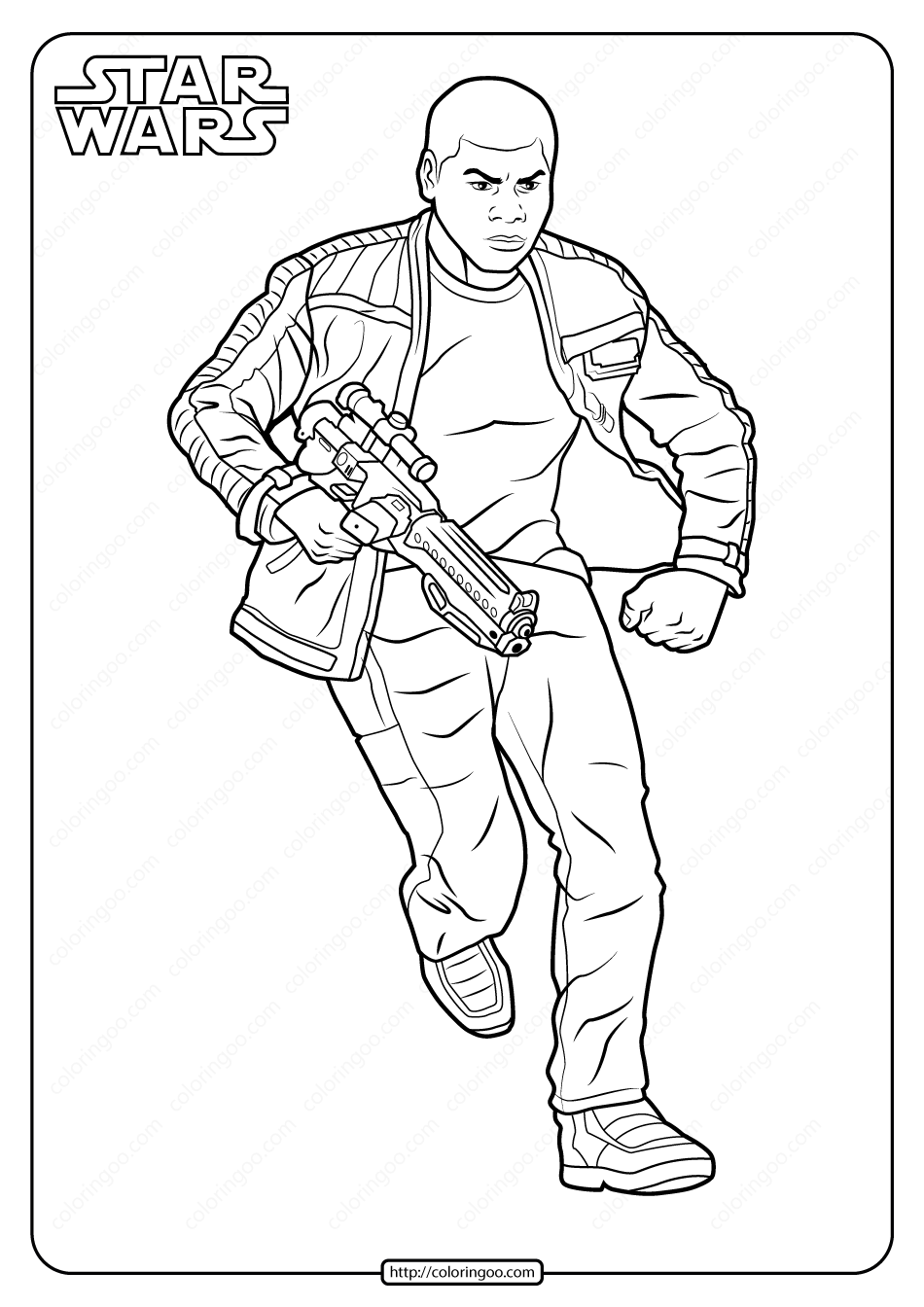 Printable Star Wars Finn Coloring Pages