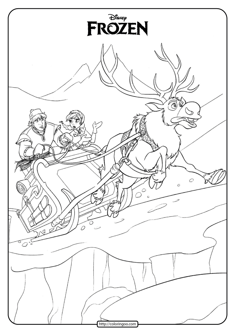 Disney Frozen Anna and Kristoff Coloring Pages 03