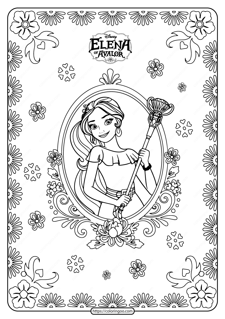 Printable Princess Elena Of Avalor Coloring Pages