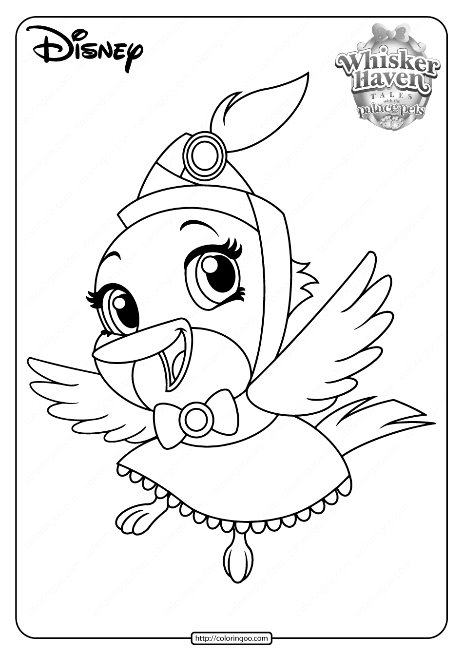 Printable Palace Pets Ms. Featherbon Coloring Pages