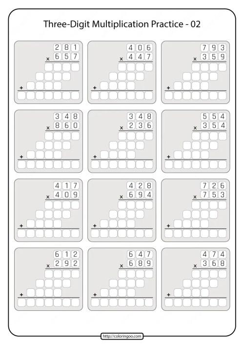 small resolution of Printable 5th Grade Multiplication Worksheet 02