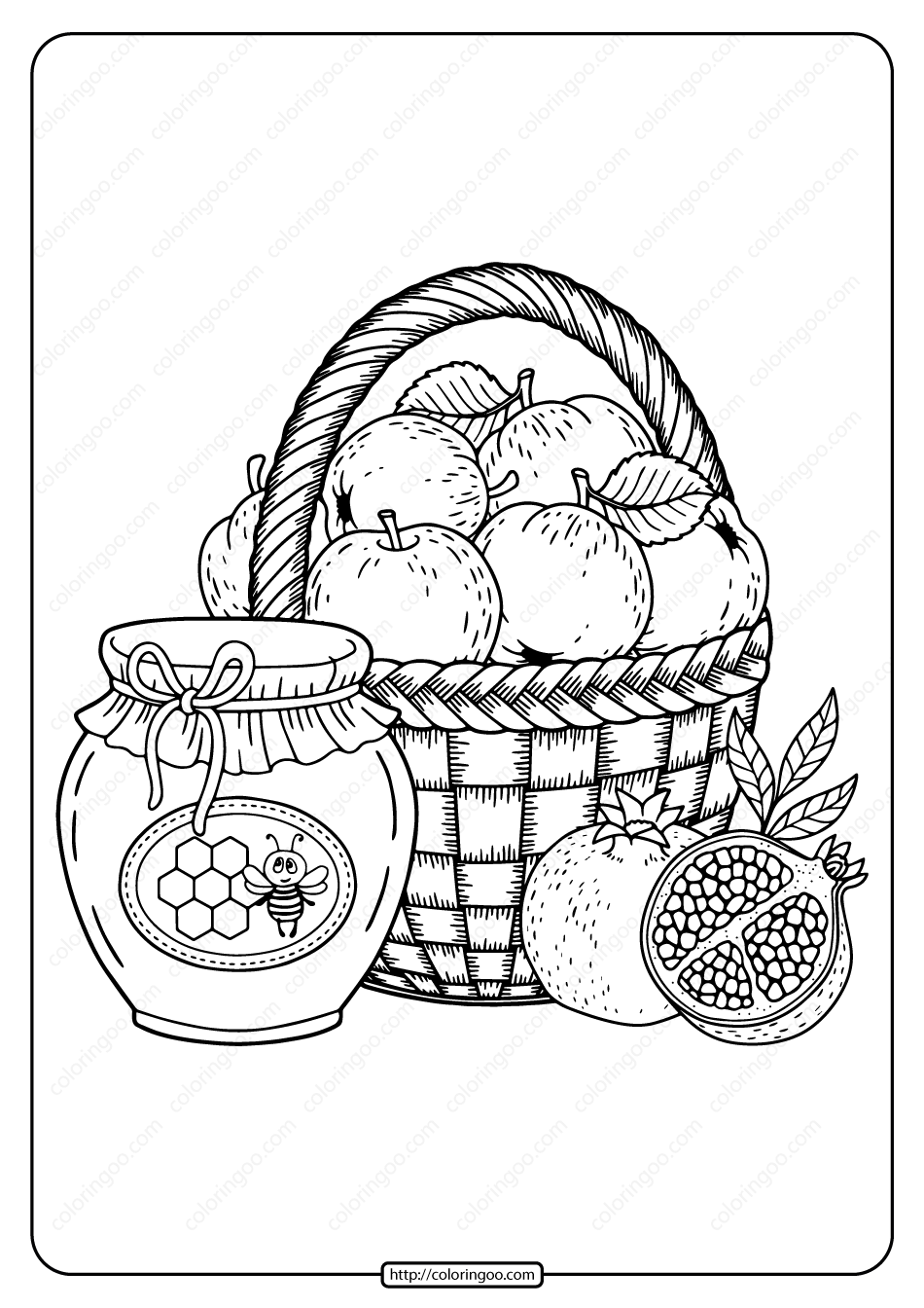 Printable Fall Harvest Pdf Coloring Page