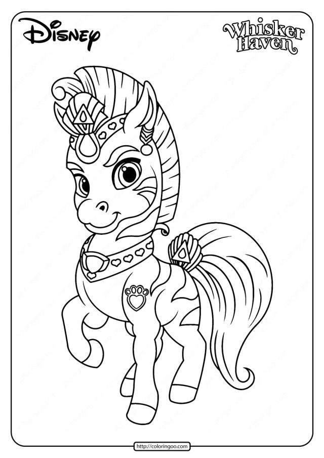 Printable Palace Pets Stripes Pdf Coloring Page