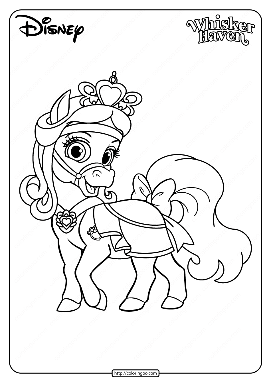 Printable Palace Pets Sweetie Pdf Coloring Page