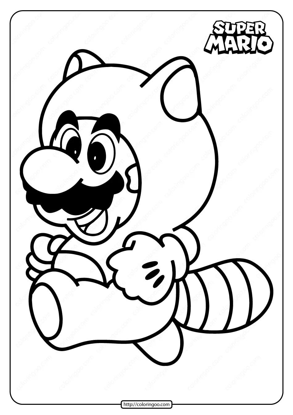 Free Printable Super Mario Coloring Page