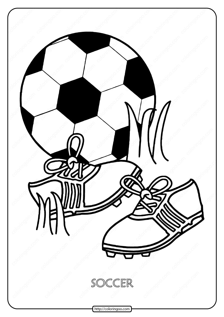 Free Printable Soccer Pdf Coloring Page