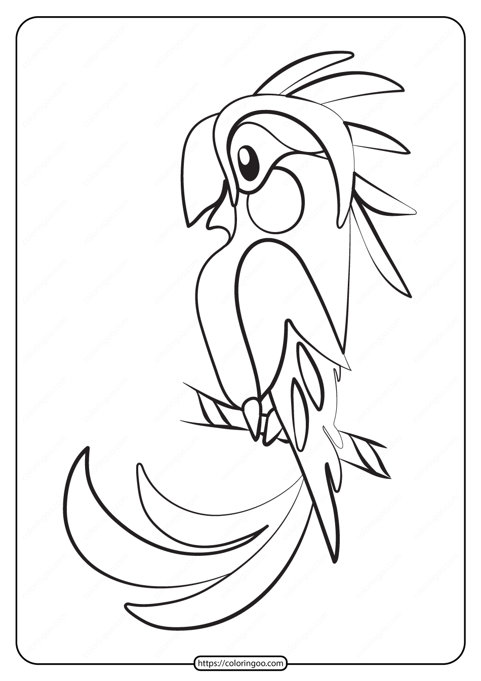 Free Printable Animals Bird Pdf Coloring Pages 30