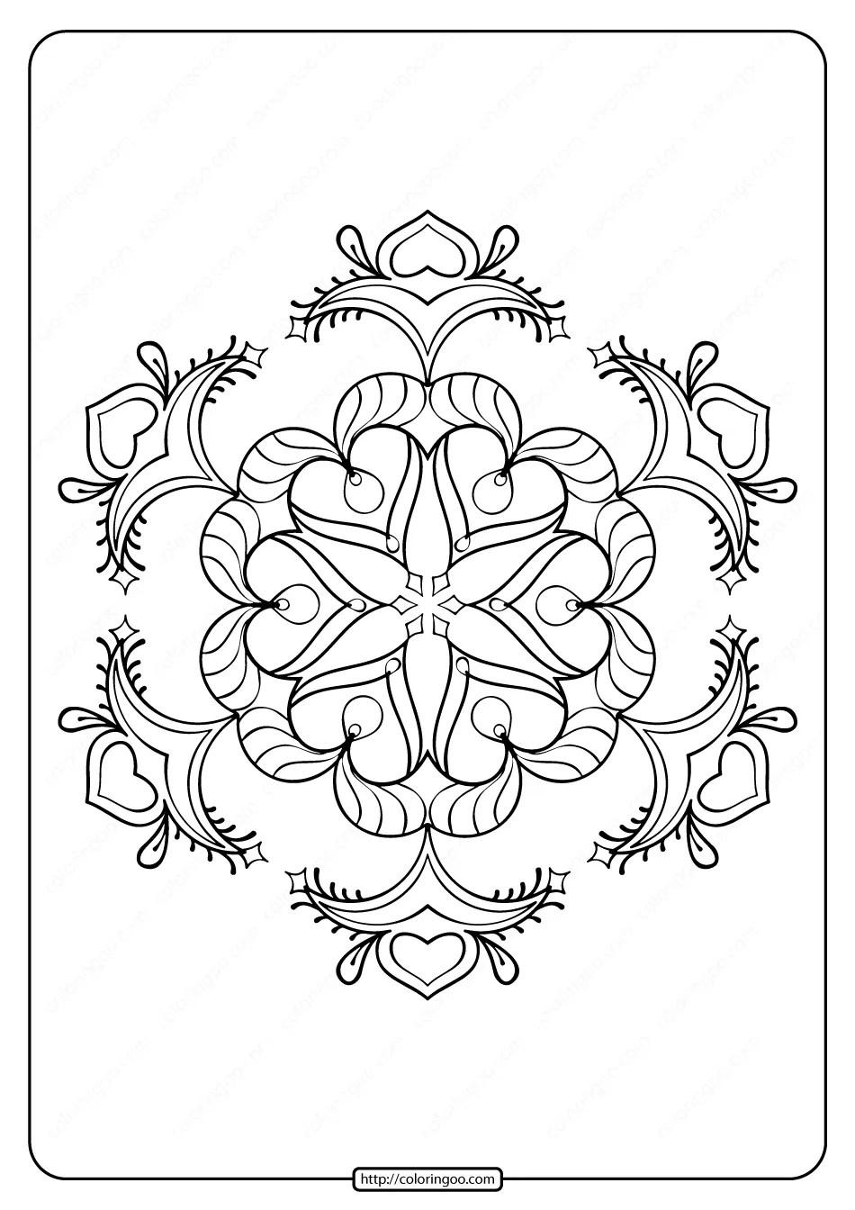 Free Printable Snowflake Pdf Coloring Page 04