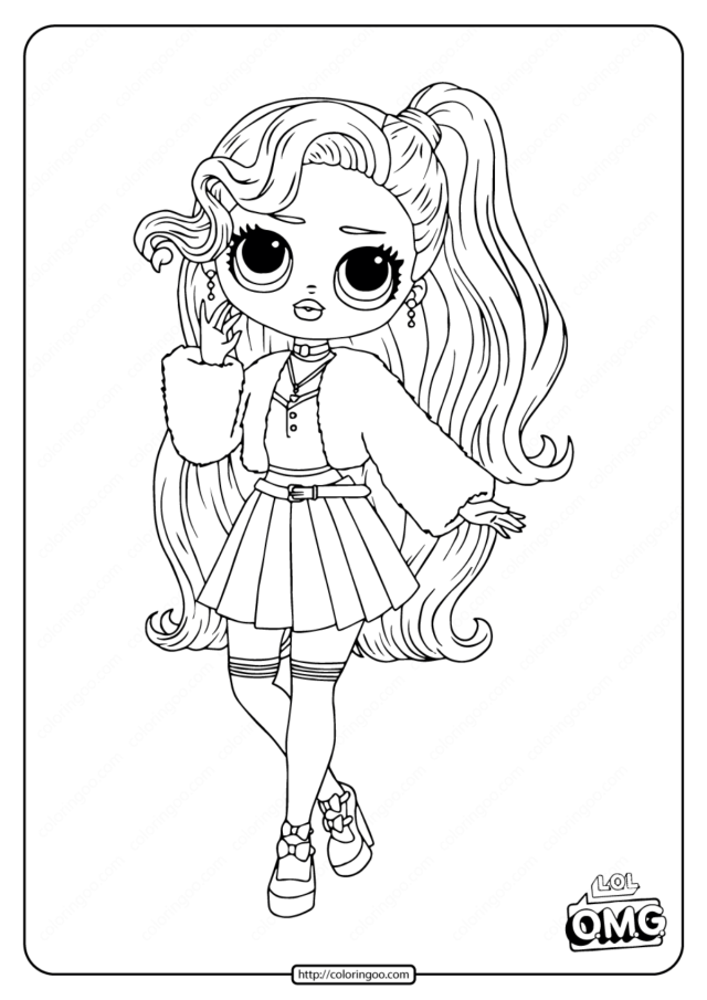 LOL Surprise OMG Pink Baby Coloring Page