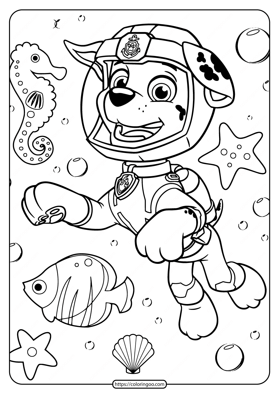 Printable Paw Patrol Pdf Coloring Pages