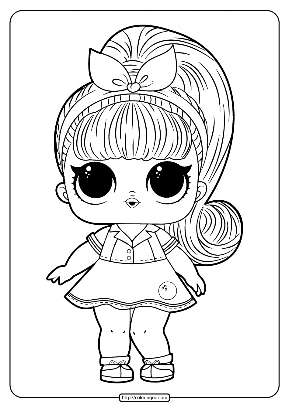 Printable LOL Doll Coloring Pages for Free