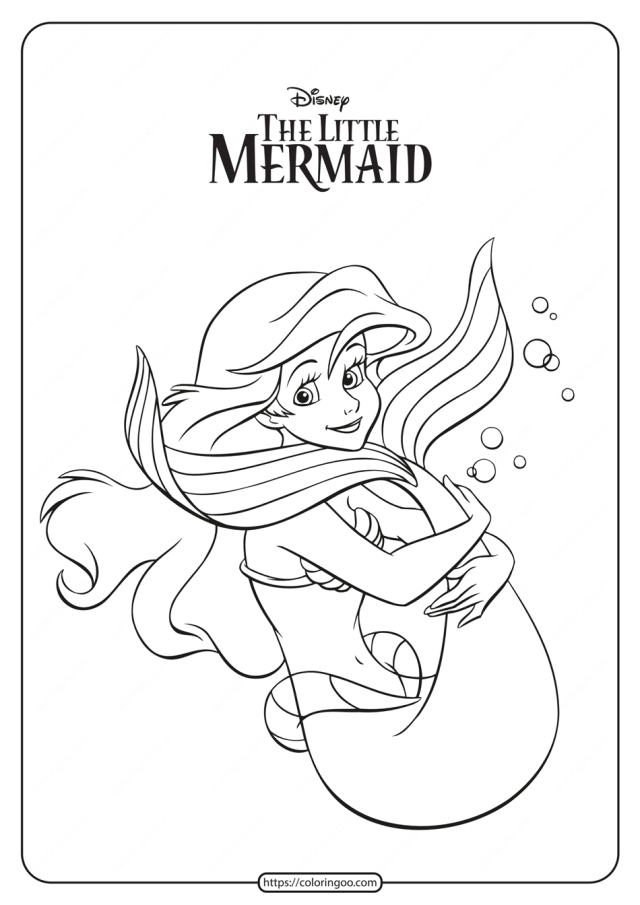 Printable The Little Mermaid Ariel Coloring Pages