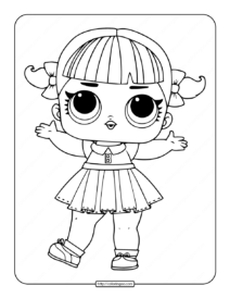 Printable LOL Surprise Cheer Captain Coloring Pages