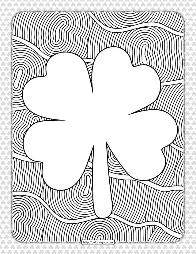 Free Printable Shamrock Coloring Page