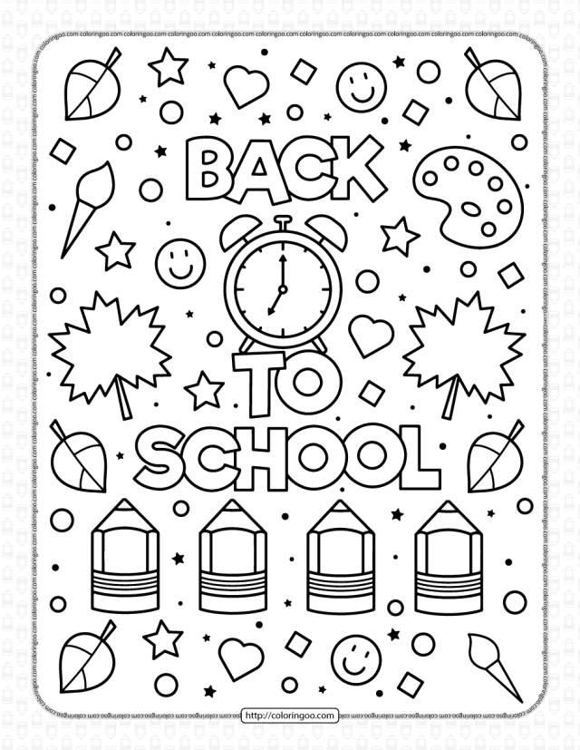 Printable Back to School Coloring Page