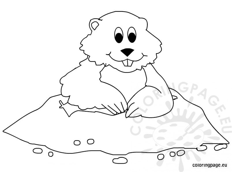 Groundhog Day Coloring Pages For Kids Coloring Page