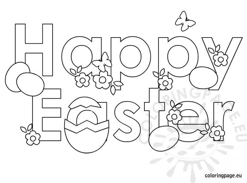 Easter Coloring Page – Happy Easter