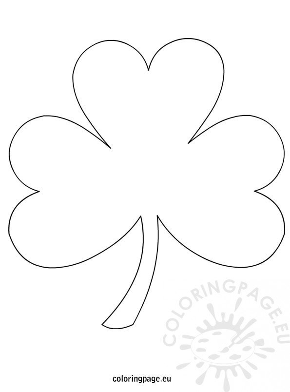 picture relating to Printable Shamrock Template known as St Patricks Working day Shamrock template printable Coloring Web site