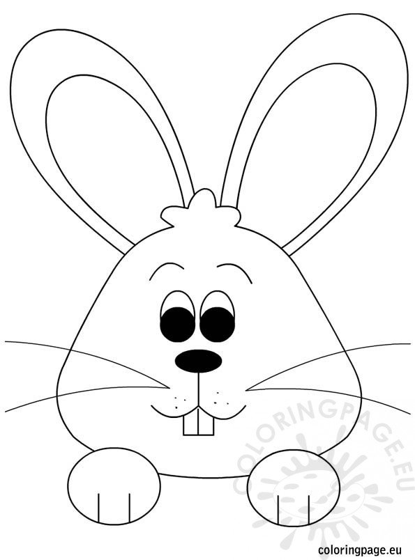 Easter Bunny – Coloring page