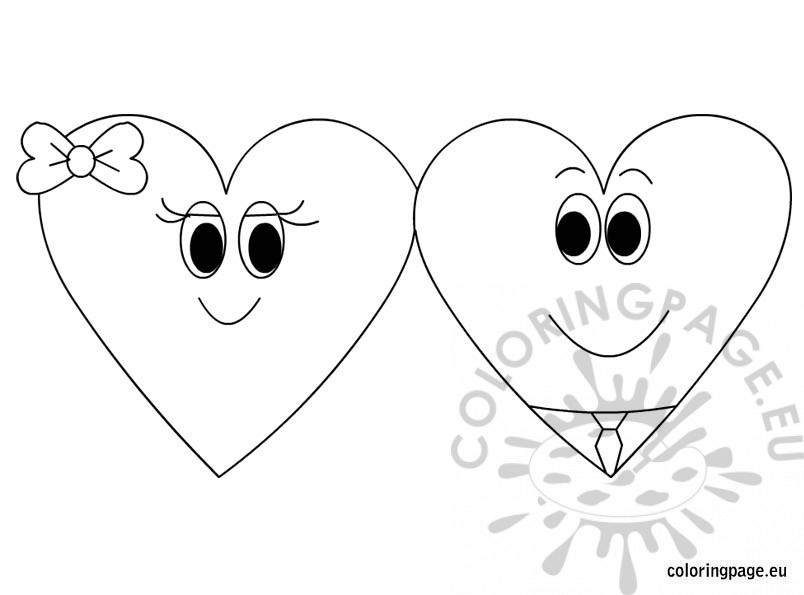 Free printable coloring page Valentine's Day