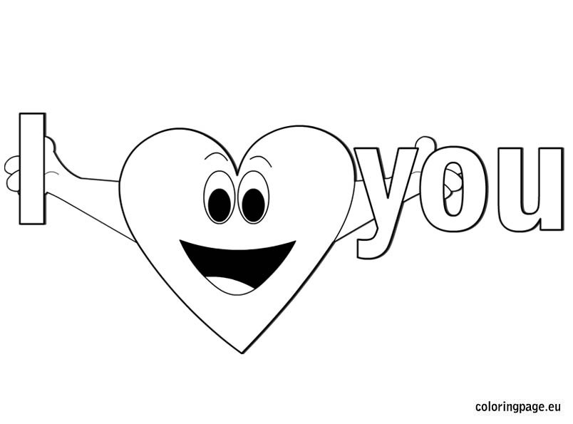i love you coloring page – coloring page