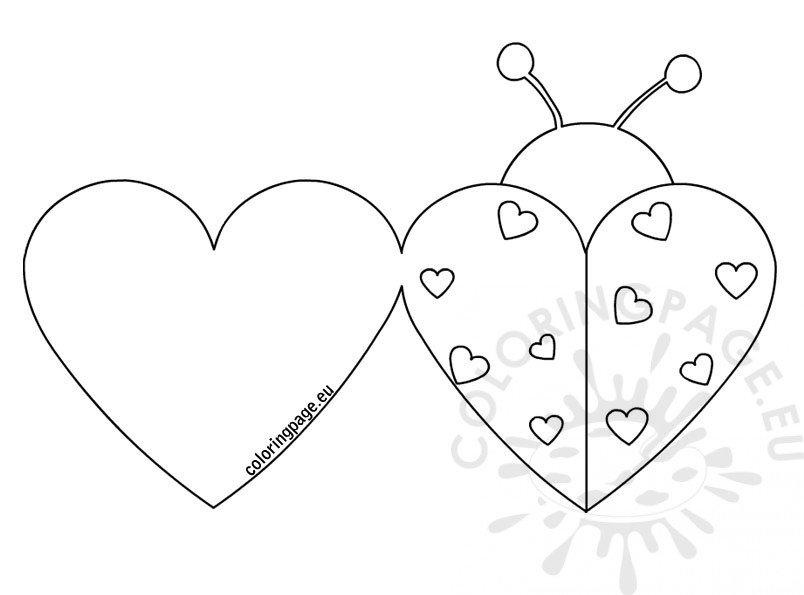 Ladybug Valentine cards