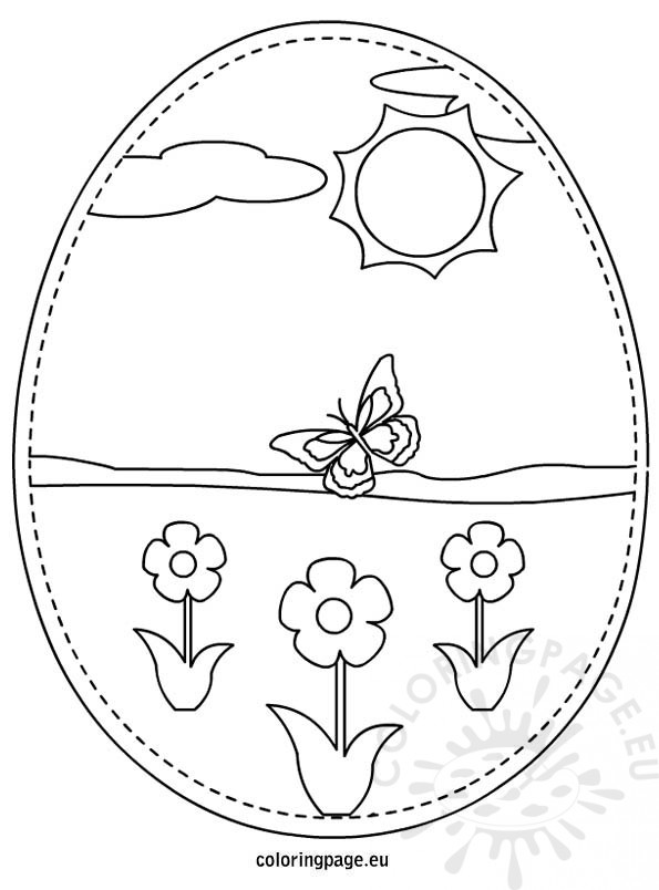 Easter Eggs printable coloring page