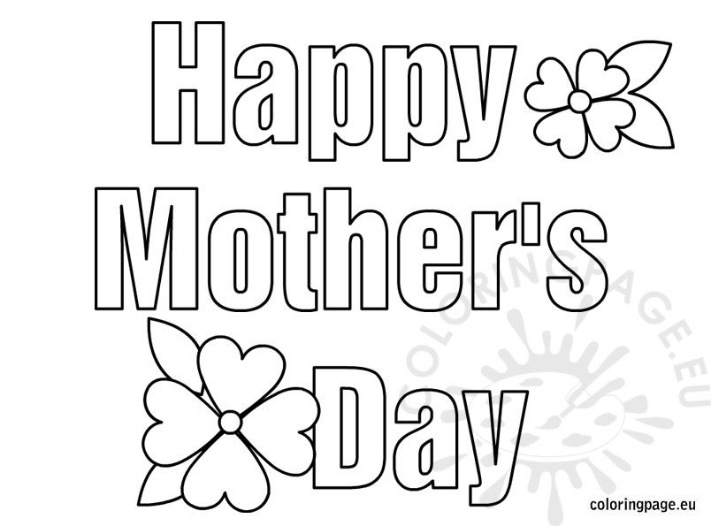 Happy Mother's Day coloring
