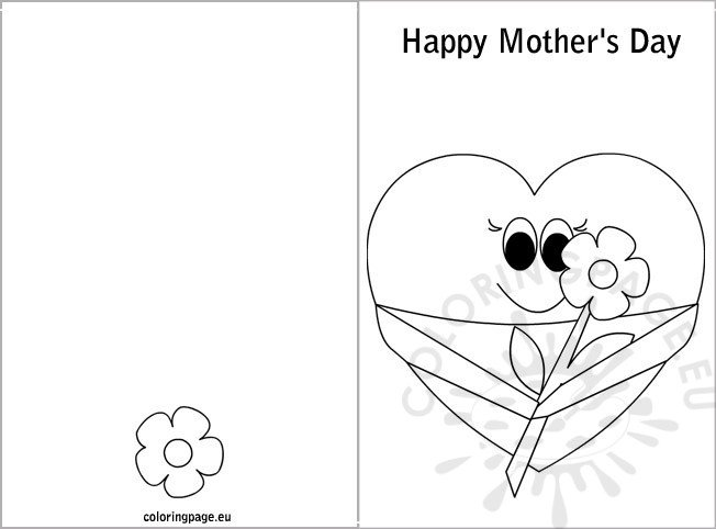 Mother's day card coloring