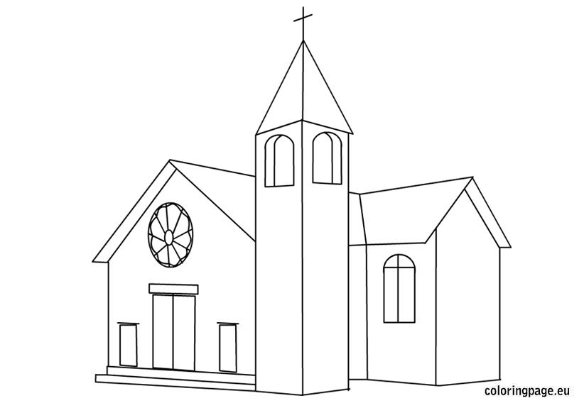 Church House Coloring Page Coloring Pages